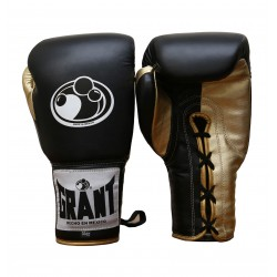 High Quality Pro Fighter Black Golden Grant Boxing Gloves