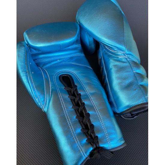 Teal Metallic Boxing Gloves 16oz