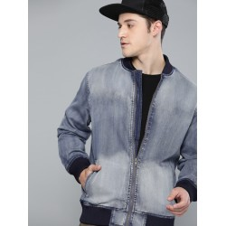 New Arrival 2020 Fall Fashionable Casual Loose Embroidered Letters Denim Jeans Jacket For Men