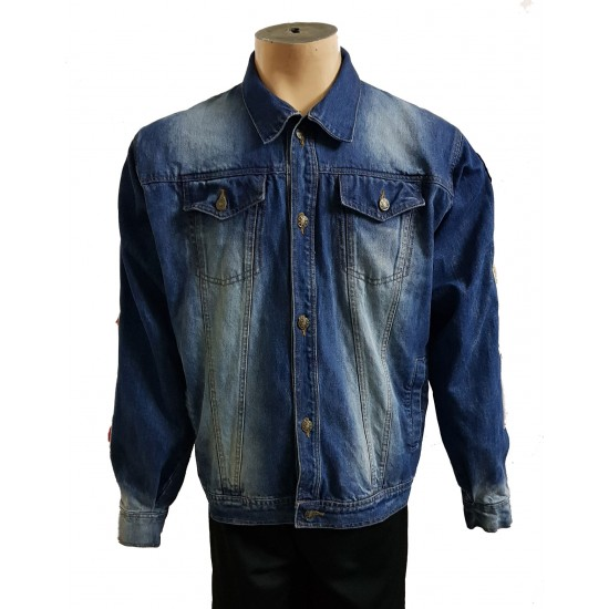 New Fashion Wholesale Plain Washed Cotton Casual Men's Denim Jeans Jacket