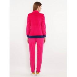 Custom Logo Charming High Waist Two Piece Women Custom Plain Shocking Pink Sweat Suits
