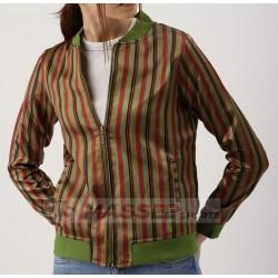 Women Casual Floral Print Baseball Bomber Jacket Custom Windbreaker Jacket