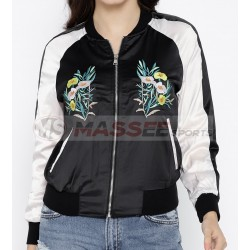 New Fashion Women Clothing Long Sleeve Custom Printed Bomber Reversible Jacket Ladies