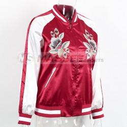 Women Jacket Brand Tops Flower Print Girl Casual baseball Bomber Long Sleeves Coat Jackets