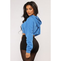 High quality wholesale 3d print slim fit woman cropped top gym hoodie