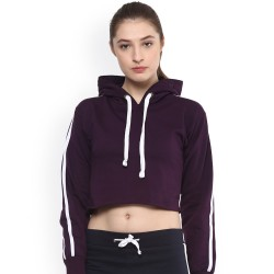 50/50 blend fleece crop top hoodie custom blank women cropped hoodie jumper hoodies