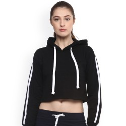 Custom Women Letter Printed Cropped Hoodie Hot Girls Slim Fit Pullover Hoodie