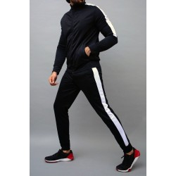 Custom 100% polyester training jogging sports jacket high quality tracksuit suit