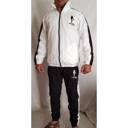 Latest Design Track Suits 100% microfiber tracksuit men's / wholesale custom black tracksuit