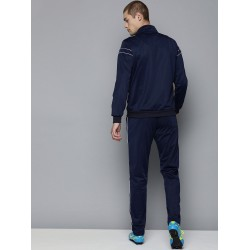 Navy blue tracksuit women mens slim fit tracksuit microfiber polyester tracksuit