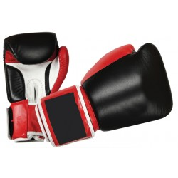 Custom printed genuine leather professional boxing glove for power training
