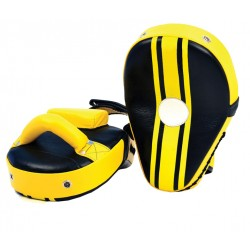 Black & Yellow Wholesale new style boxing mitts round custom focus pads
