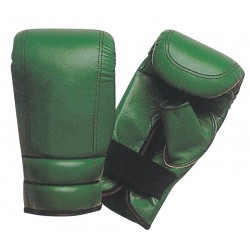 Green wholesale custom logo blank leather punching bag boxing gloves