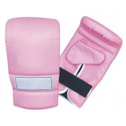Pink OEM Custom logo pu Boxing gloves bag Muay Thai Kick Boxing Training Punching Gloves
