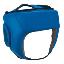 High Quality Blue Boxing Leather Head Guard