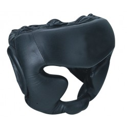 Black Cow Hides Genuine Leather Custom Boxing Head Guard