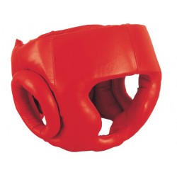 Red Color PU Leather Boxing Head Guard Martial Arts Head Guard