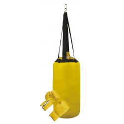 Yellow Boxing Training Punching Bag Sand Bag Heavy Fitness Bag