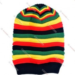 multi color beanies for women with stripped