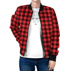 Bomber Varsity Jacket Check Design
