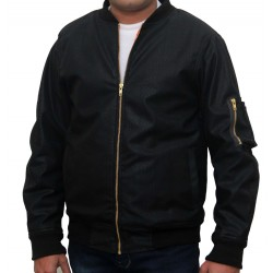 CWU MA1 Flight Jacket Mens Bomber US PIlot Air-force Biker Security Wear Black