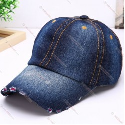 Denim wholesale Baseball Cap Custom 3D Embroidery Logo high quality Baseball Cap Baseball