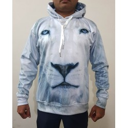 High Quality Sublimation Lion Image Hoodie
