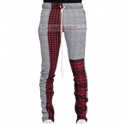 Full size knitted cotton trouser string plain black joggers men elastic trousers Sample