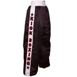 Kick boxing Trouser Training Pants Brown with white stripes satin Adult