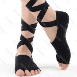 2019 New Long Strap Women Toeless Yoga Socks Anti Slip