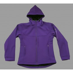 Purple Soft Shell Ladies Coat