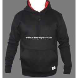 plain high quality hoodies soft pullover streetwear men black overhead hoodie